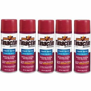 Tinactin Athlete's Foot Liquid Spray Antifungal - 5.3 oz (Pack of 5)
