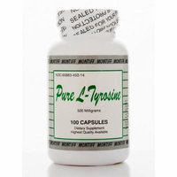 Pure L-Tyrosine 500 mg - 100 Capsules by Montiff