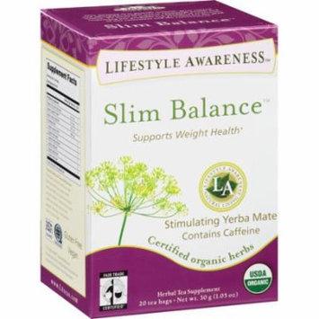 Lifestyle Awareness Slim Balance Herbal Tea Bags, 20 count, 1.05 oz