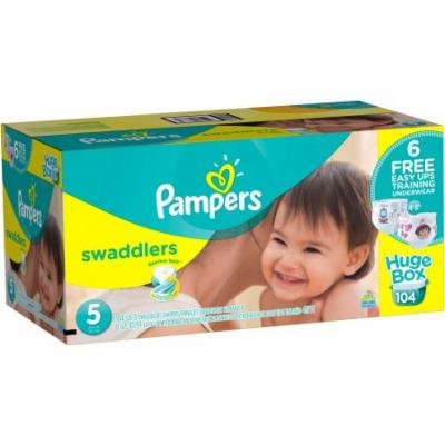 Pampers Swaddlers Diapers, Size 5, 104 Count (Bonus Box)