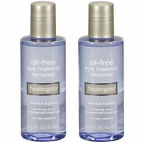 2 Pack Neutrogena Oil-Free Eye Makeup Remover 5.5 fl oz (162 ml) Each