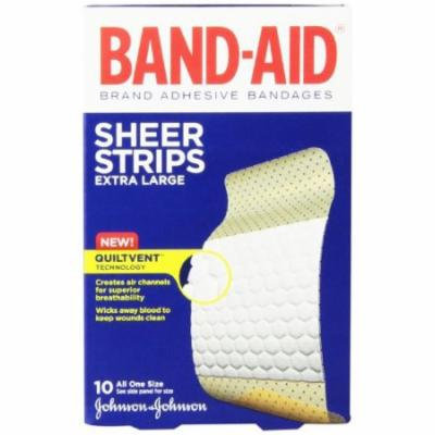 4 Pack - Band-Aid Sheer Adhesive Bandages, Extra Large - 10 Each