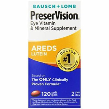 3 Pack - PreserVision Areds Vitamin/Mineral/Lutein Softgels, 120ct Each