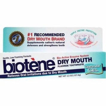 4 Pack - Biotene Dental - Oral Balance Mouth Moisturizing Toothpaste 4.3oz Each
