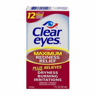 4 Pack Clear Eyes Maximum Redness Relief Eye Drops 1 oz Each