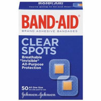 2 Pack - Band-Aid Adhesive Bandages Clear Spots All One Size - 50 count Each
