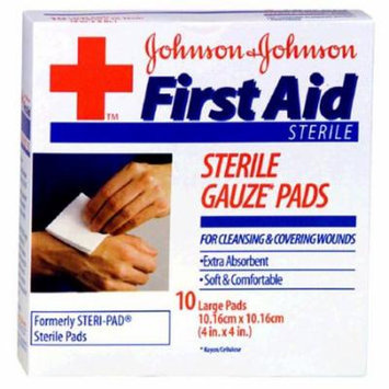 3 Pack - BAND-AID First Aid Large Gauze Pads, 4 in x 4 in, 10 Each