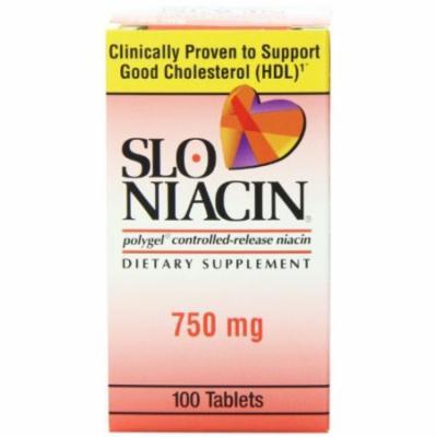 2 Pack - Slo-Niacin Polygel Controlled-Release Niacin, 750mg 100 Tablets Each