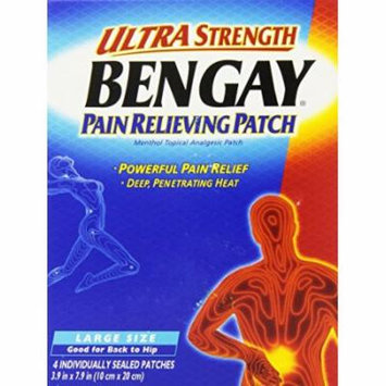 6 Pack - Bengay Ultra Strength, Pain Relieving Patch, Large Size, 4 Count Each