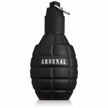 Arsenal Black by Gilles Cantuel for Men Eau De Parfum Spray, 3.4 Ounce