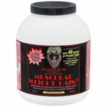 Healthy N Fit Muscular Weight Gain,Vanilla Flavor, 4.4 LB