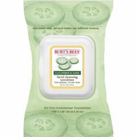 5 Pack Burt's Bees Cucumber and Sage Facial Cleansing Towelettes 30 count Each