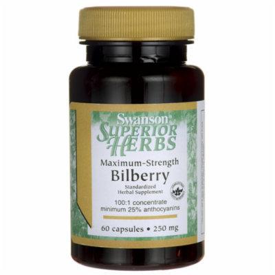 Swanson Maximum Strength Bilberry 250 mg 60 Caps