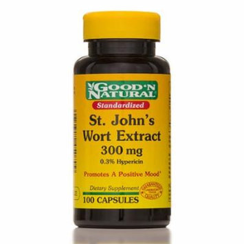 Standardized St. John's Wort 300 mg - 100 Capsules by Good and Natural