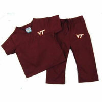 Virginia Tech Hokies XS Infant/Toddler Maroon Scrubs Set (1-2 yrs)