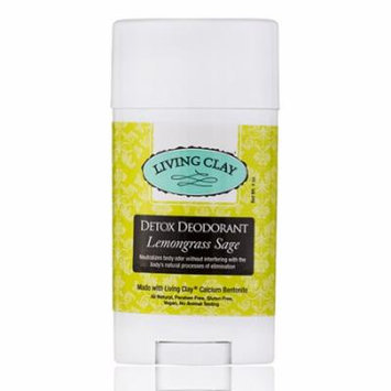 Detox Deodorant - Lemongrass Sage - 4 oz by Living Clay