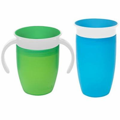 Munchkin Miracle 360 Degree No-Spill Trainer and 10 Ounce Cup, Twin Pack, Gre...