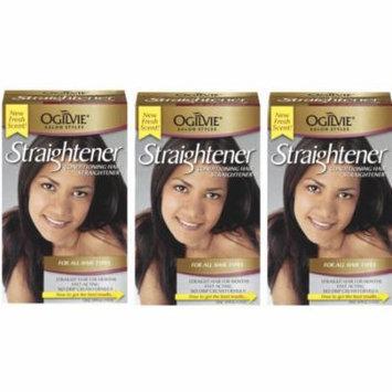 3 Pack Ogilvie Straightener, For All Hair Types 1 ea