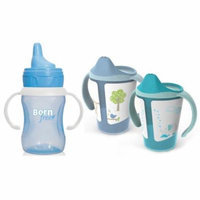 Born Free 6 Ounce Grow with Me Training Cups with 7 Ounce Training Cup, Blue