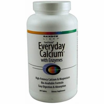 Rainbow Light Everday Calcium with Enzymes, Tablets, 240 CT