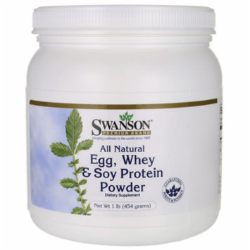 Swanson All Natural Egg, Whey & Soy Protein Powd 1 lb (454 grams) Pwdr