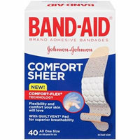 4 Pack - BAND-AID Comfort-Flex Sheer Adhesive Bandages All One Size 40 Each