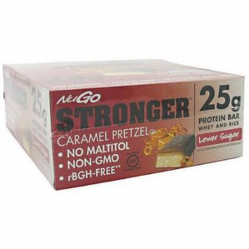 NuGo Nutrition NuGo Stronger, Caramel Pretzel, 12 CT
