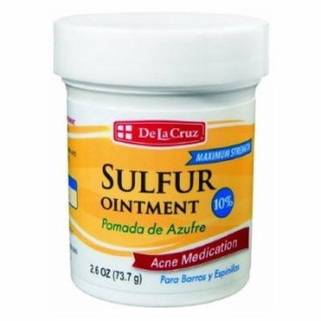 PACK 2 De La Cruz Sulfur Ointment Acne Medication 2.6 oz