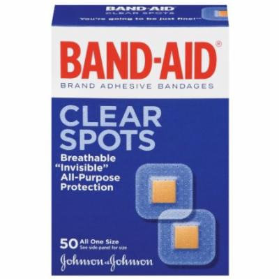 6 Pack - Band-Aid Adhesive Bandages Clear Spots All One Size - 50 count Each