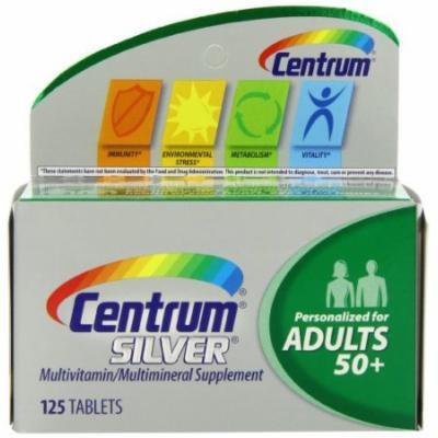 2 Pack - Centrum Silver Multivitamin Supplement, Adult, 125 Count Each