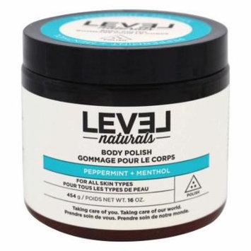 Level Naturals - Body Polish Peppermint + Menthol - 16 oz.