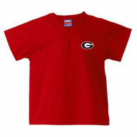 Georgia Bulldogs Kids Red Scrubs Top