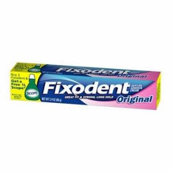 6 Pack - Fixodent Original Denture Adhesive Cream 2.4oz Each