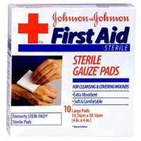 6 Pack - BAND-AID First Aid Large Gauze Pads, 4 in x 4 in, 10 Each