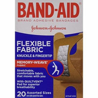 2 Pack - BAND-AID Flexible Fabric Bandages Knuckle - Fingertip 20 Each