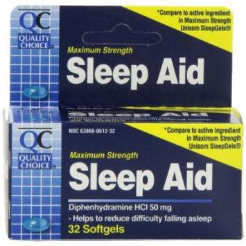 6 Pack - Quality Choice Maximum Strength Sleep Aid Softgels 32 Count Each