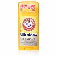 2 Pack - Arm & Hammer ULTRAMAX Deodorant Invisible Solid Unscented 2.6oz Each