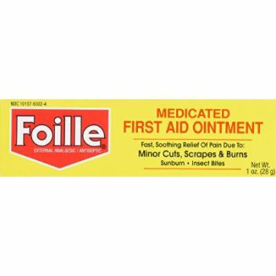 5 Pack Foille Medicated First Aid Ointment 1 ounce Each
