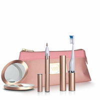 Violife Viossentials Magnifying Mirror Slim Sonic Toothbrush, Powered 3-in-1 Manicure Kit and Bag, Rose Gold, 11.9 Ounce