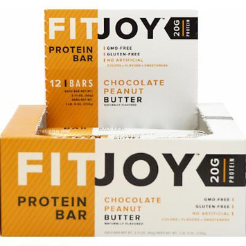 FitJoy FitJoy Protein Bar Chocolate Peanut Butter-12 Bars