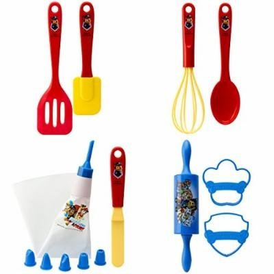 Zak Designs Paw Patrol 15 Piece Baking Set For Kids, Decorated