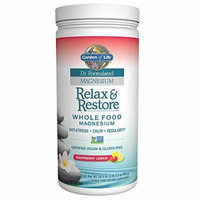 Garden of Life Dr. Formulated Magnesium Relax and Restore Supplement, Raspberry Lemon, 16.3 Ounce