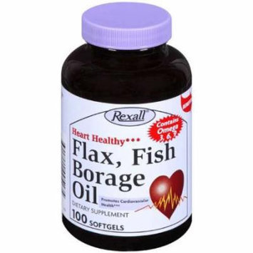 Rexall: Dietary Supplement Flax, Fish Borage Oil, 100 ct