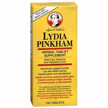 3 Pack Lydia Pinkham Herbal Tablets - 150 Tablets Each