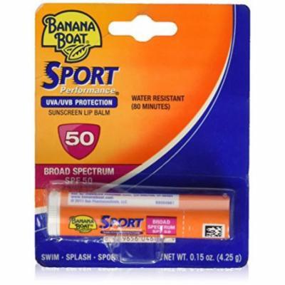 5 Pack - Banana Boat Sport Performance Sunscreen Lip Balm SPF 50 .15oz Each