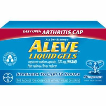 5 Pack - Aleve Liquid Gels with Easy Open Arthritis Cap, 80 Liquid Gels Each