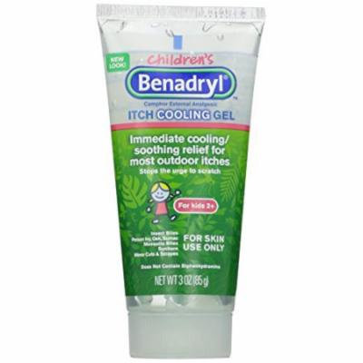 3 Pack - Benadryl Children's Anti-Itch Cooling Gel 3oz Each