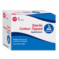 Dynarex Cotton Tipped Wood Applicators Sterile 3