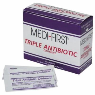 Medi-First, Triple Antibiotic Ointment 0.5g packets Box of 25 packets MS-60772