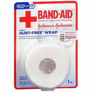 2 Pack - BAND-AID First Aid Hurt-Free Wrap, Small 1 inch X 2.3 Yards Each